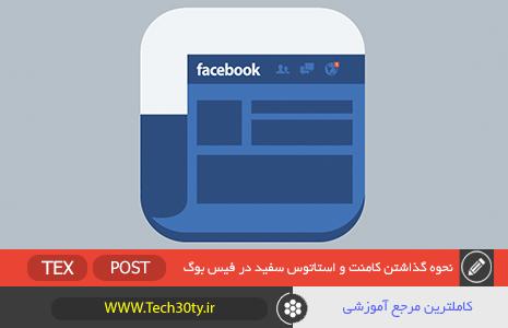 آموزش گذاشتن کامنت و استاتوس خالی در فیس بوک